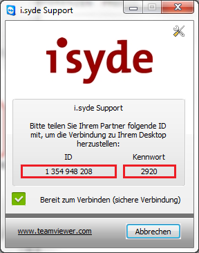 ScreenShot i.syde Remote Support